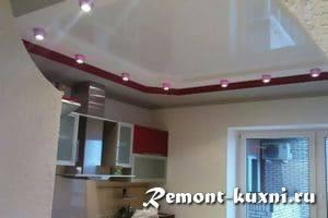 Можно делать натяжные потолки на кухне