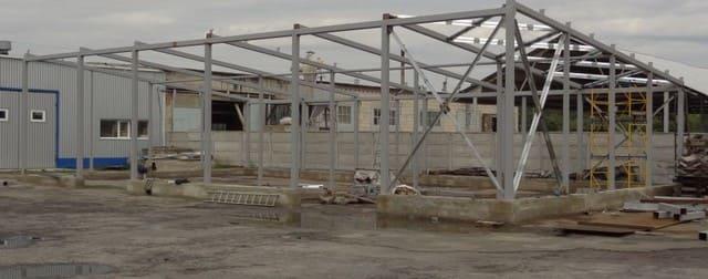 каркас быстровозводимого здания из металлоконструкций
