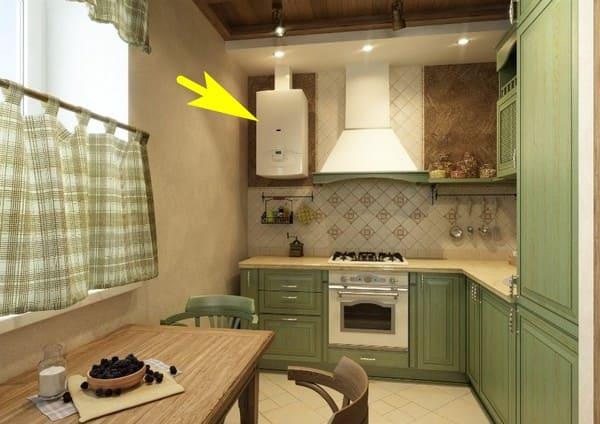 бойлер водонагреватели для кухни на кухне