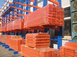 Металлическиестеллажи для хранения стройматериалов