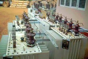 монтаж силового трансформатора