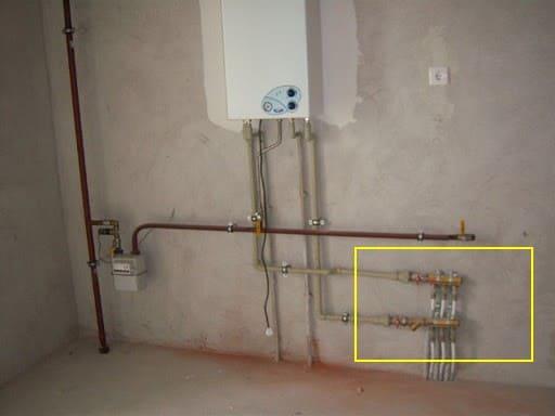 водопровод на кухне бойлер