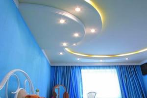 Применение натяжных потолков и подготовка поверхности