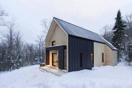 дом барнхаус зимой