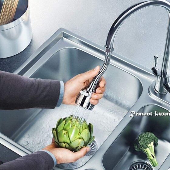 смеситель для кухни с регулируемым изливом