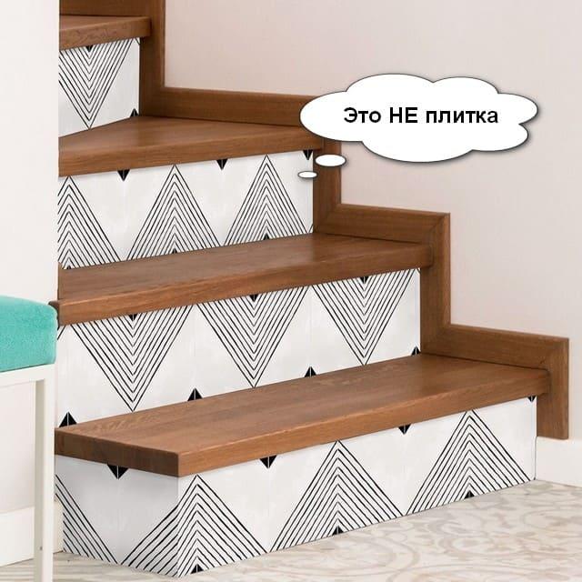 екобычная отделка лестницы